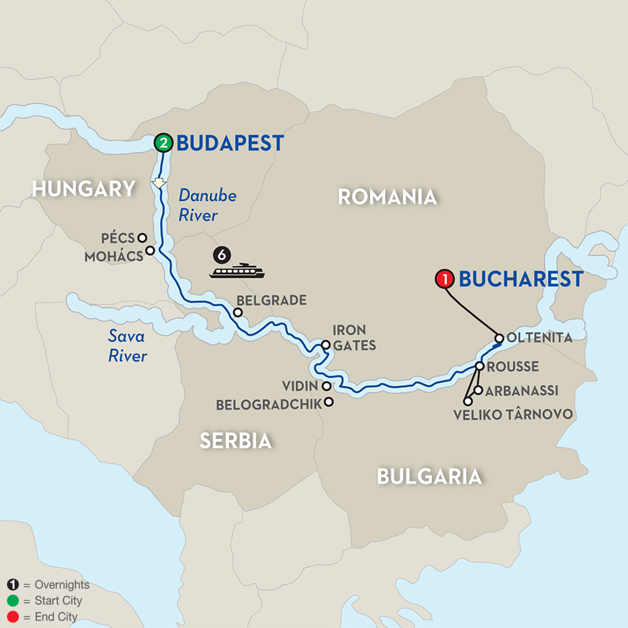 10 Day Avalon River Cruise From Budapest To Bucharest 2018