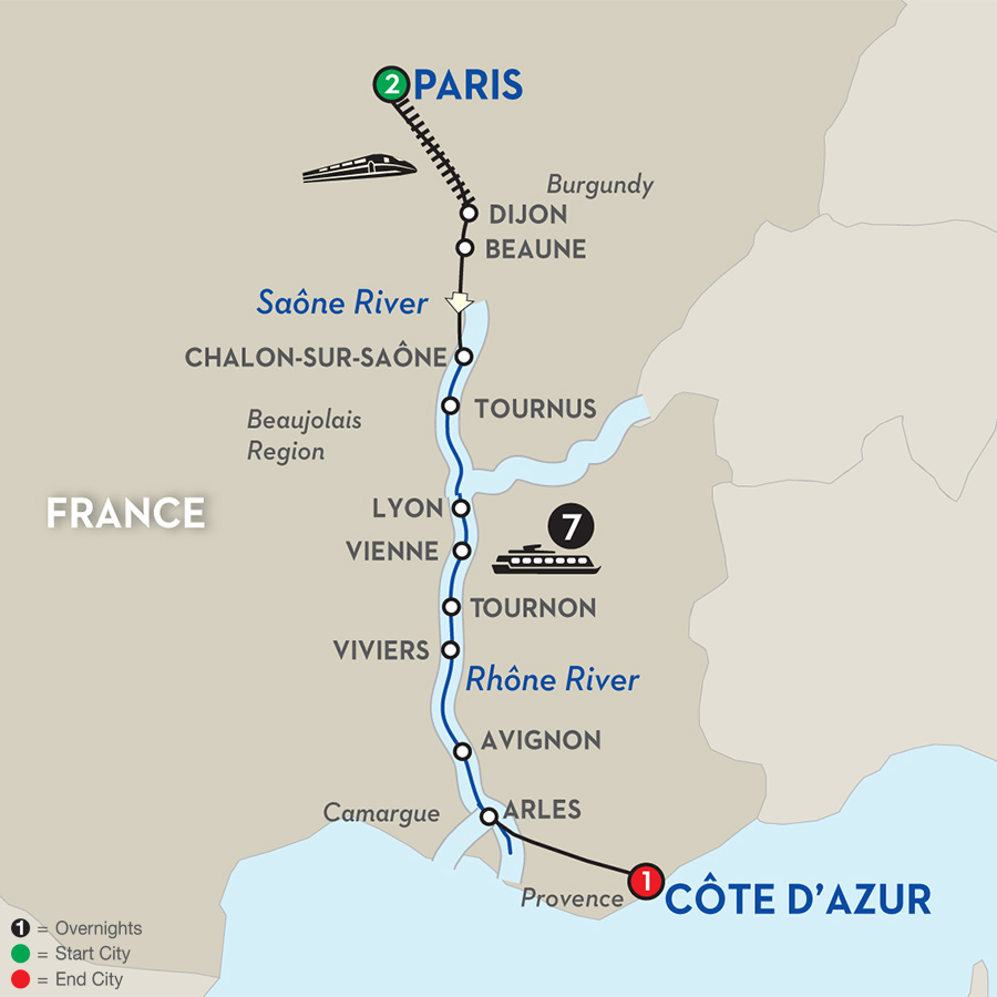 11 Day Avalon River Cruise From Paris To C 244 Te D Azur 2017