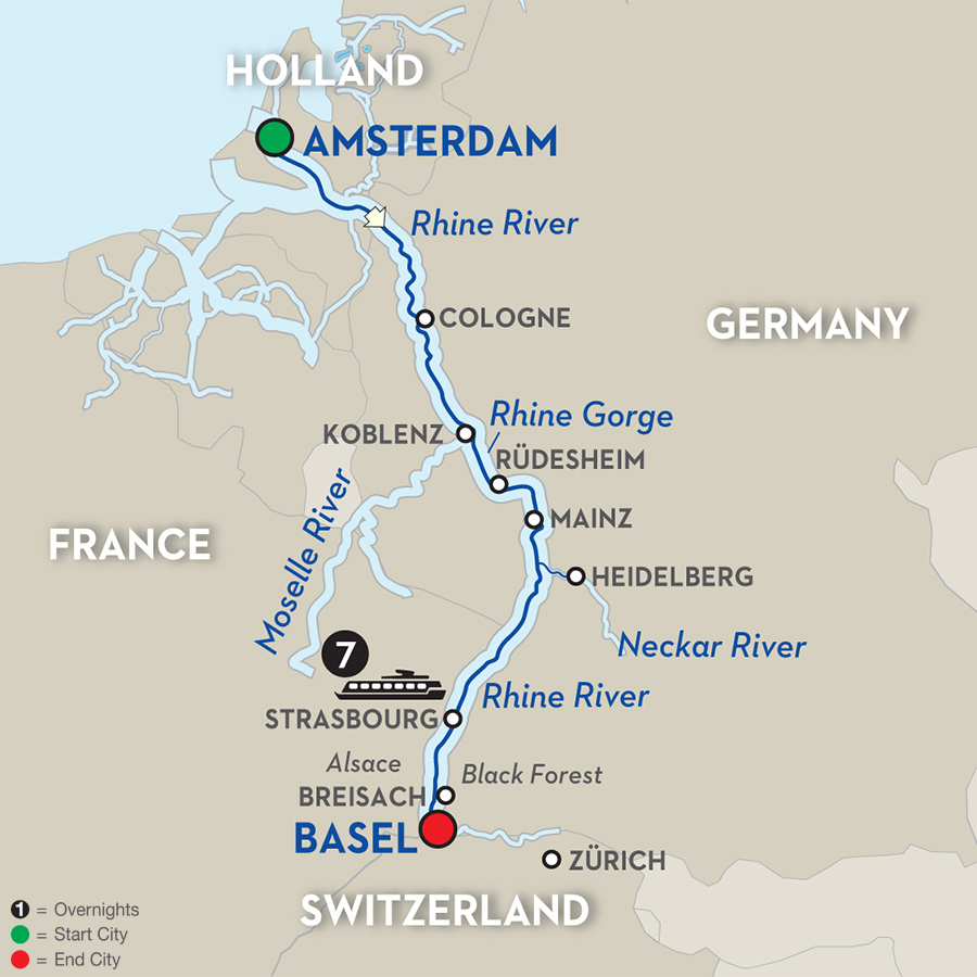 8 Day Avalon River Cruise From Amsterdam To Basel 2017