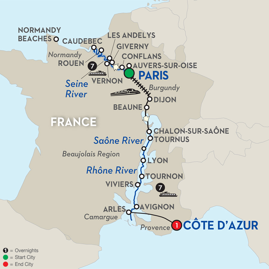 16 Day Avalon River Cruise From Paris To C 244 Te D Azur 2017