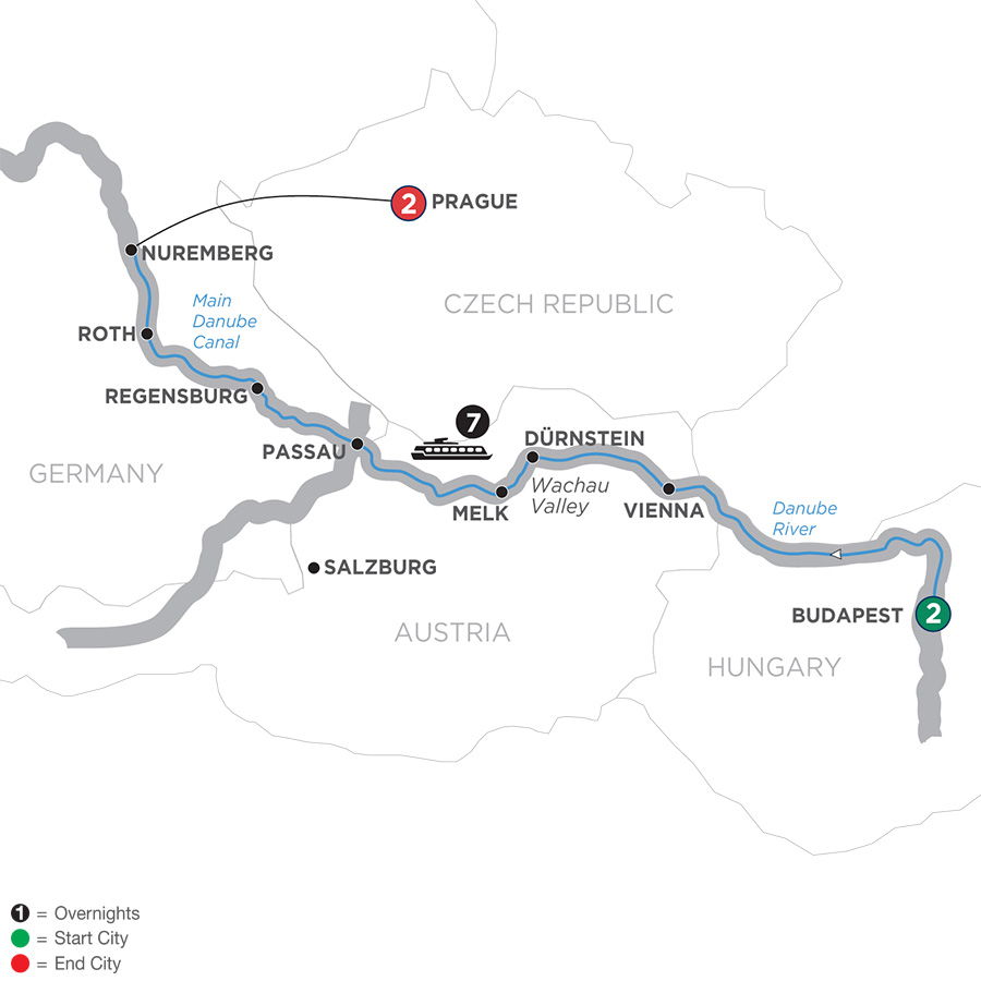 12 Day Avalon River Cruise from Budapest to Prague - 2019