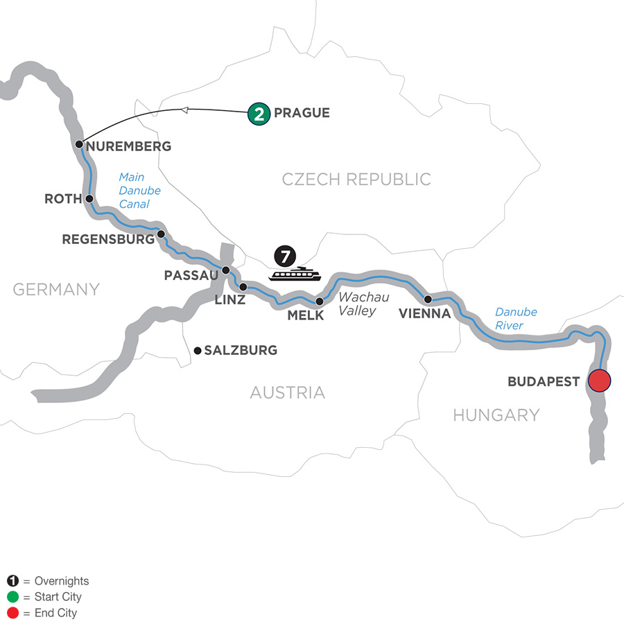 10 Day Avalon River Cruise from Prague to Budapest 2019