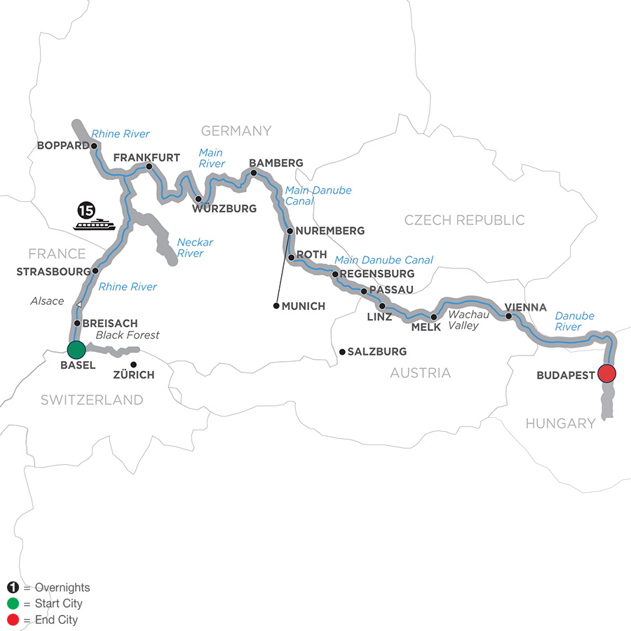 16 Day Avalon River Cruise From Basel To Budapest 2019