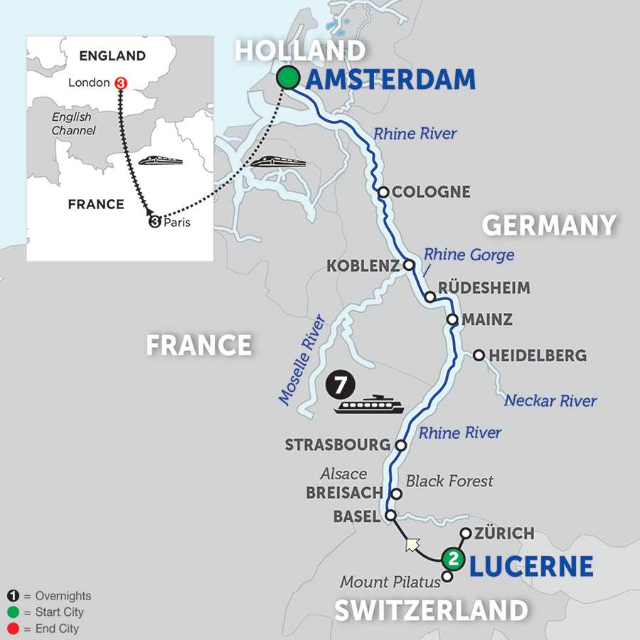 14 Day Avalon River Cruise From Lucerne To London 201