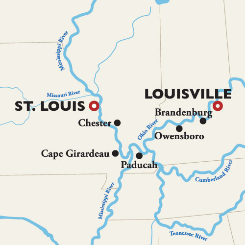 9 Day American Mississippi River Cruise Louisville To St