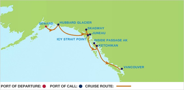 Celebrity solstice alaska cruise itinerary