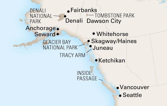 15 Day Alaska Holland America Line Cruise Tours