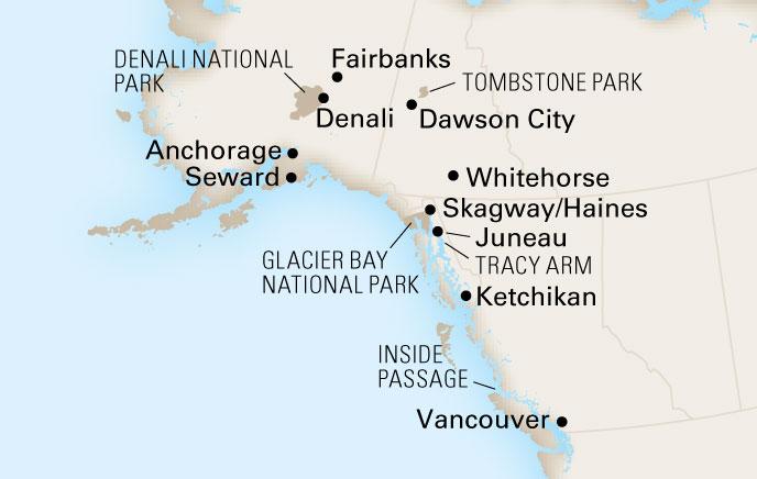 14 Day Alaska Holland America Line Cruise Tours