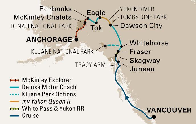 Аляска: карты и особенности маршрута