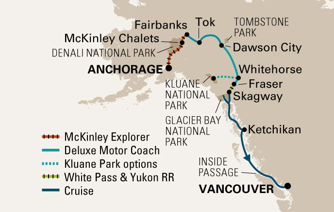 Holland America Cruise Tour Map