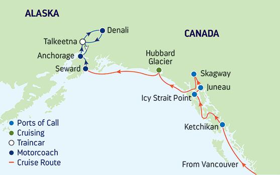 Icy Strait Point Alaska Map.10 Day Alaska Royal Caribbean Int Cruise Tours