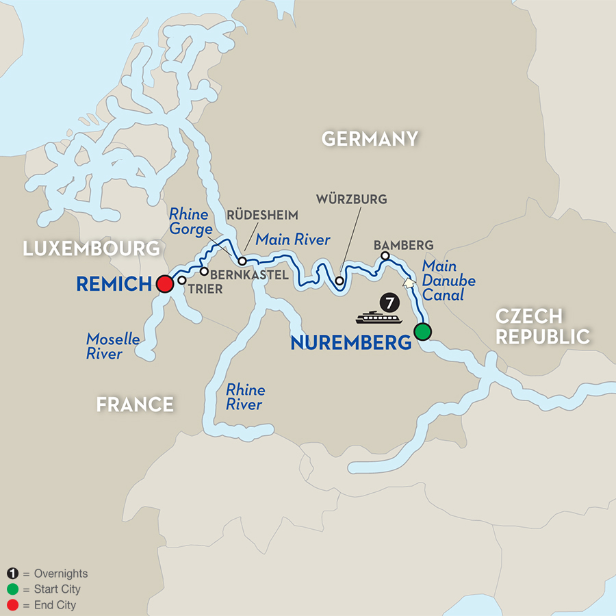 8 Day River Cruise Nuremberg to Remich Avalon Waterways River Cruises