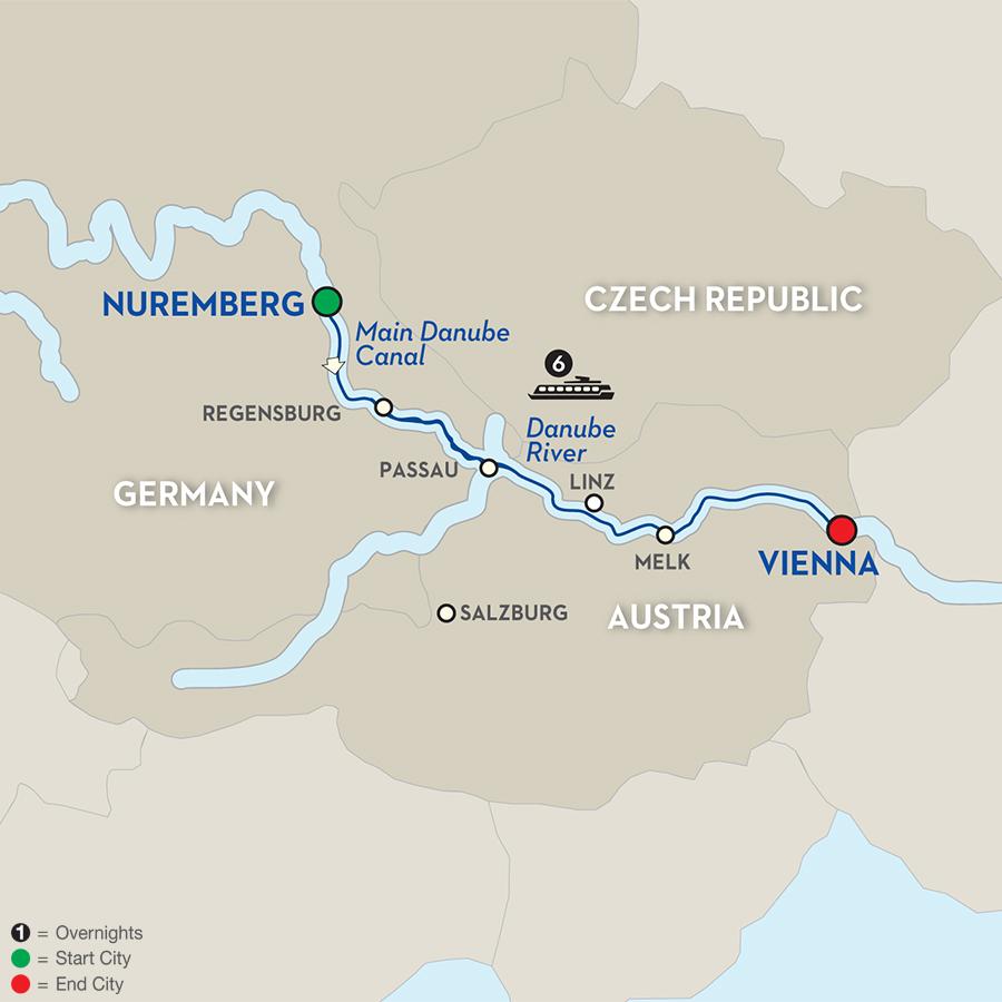 7 Day River Cruise Nuremberg to Vienna Avalon Waterways River Cruises