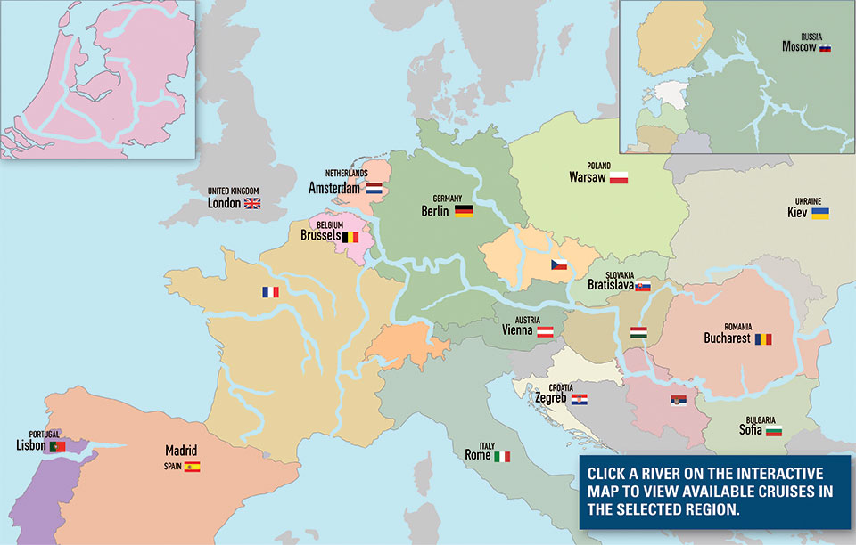 River Cruise Vacations European Cruises - World map seine river