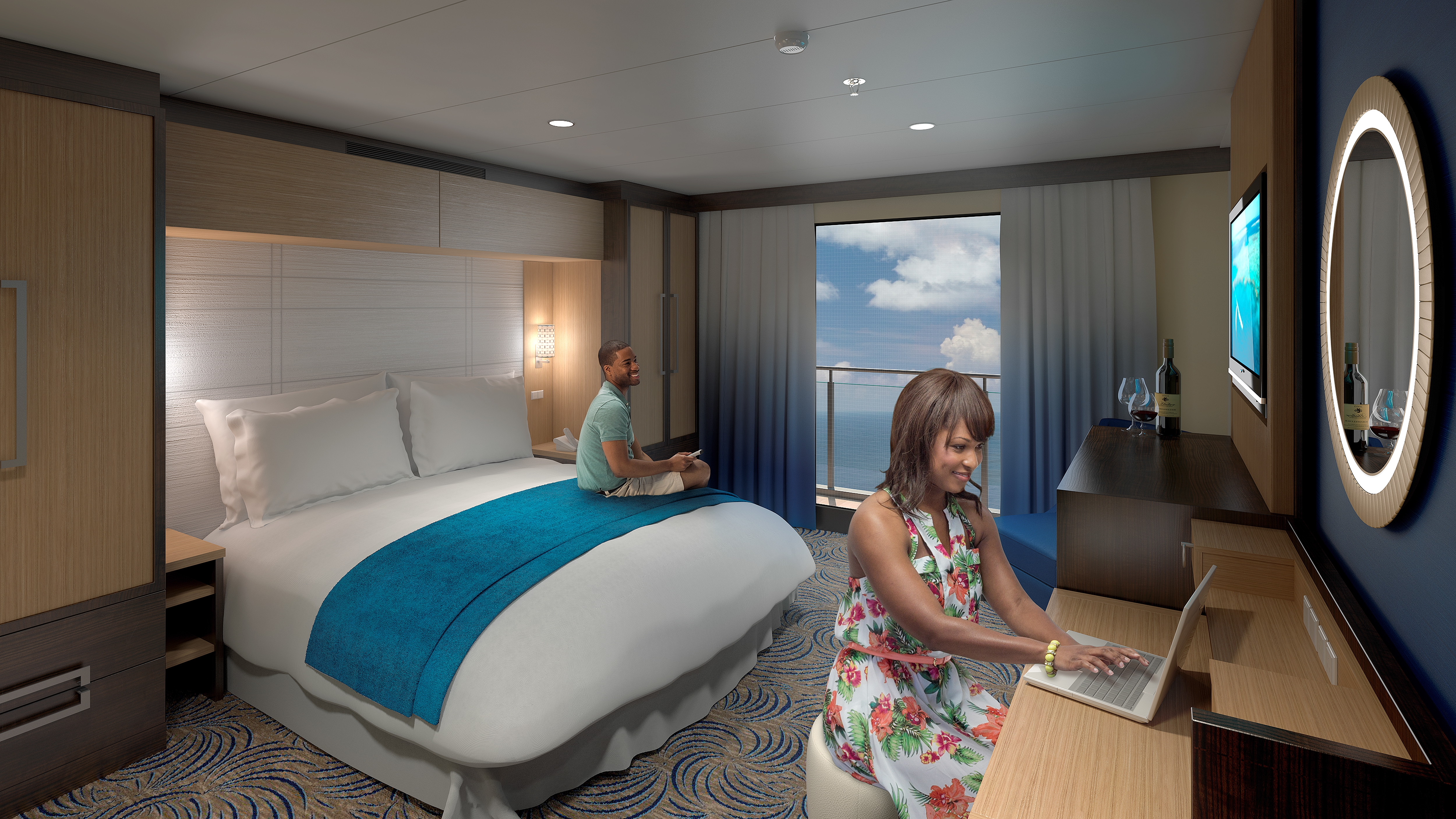 Royal caribbean quantum of the seas for First class cruise ship cabins
