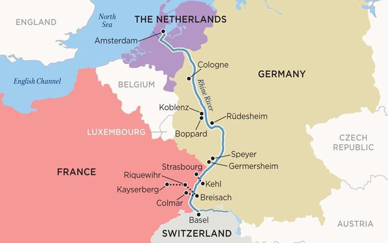 European River Cruise Amsterdam To Basel