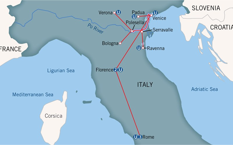 Best River Cruise For My Vacation - Map of ancient rome po river