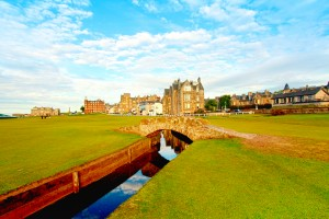 Swilcan Bridge at the St. Andrews Links in Fife, Scotland