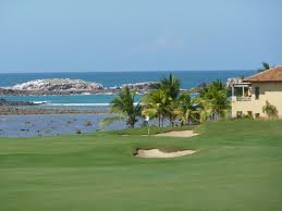 Book a tee time at a golf course while in port.