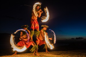 Attend a luau with fire dancers to light up the night!