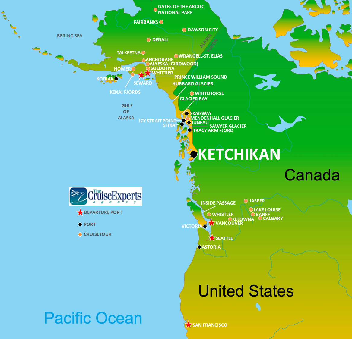 Ketchikan map - CruiseExperts.com Blog on