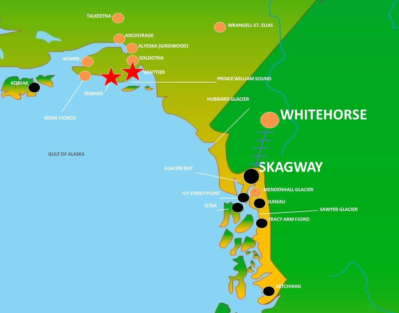 skagway to whitehorse map - CruiseExperts.com Blog