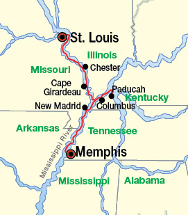Cruise The Mississippi And Ohio Rivers For Days Between St - St louis missouri on map of us