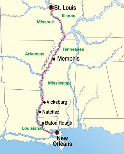 St LouisMemphis MSR Map 030813 SIMPLE - CruiseExperts.com Blog