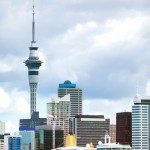 Auckland city and harbour from the sea