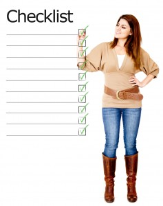 Woman with checklist