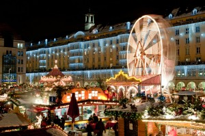 christmas Christmas market in Dresden. It is Germany's oldest Christmas Market with a very long history dating back to 1434.