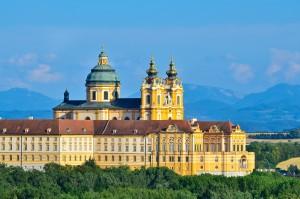 Ansicht Stift Melk Wachau Österreich