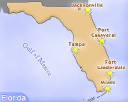 florida map of ports