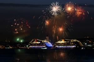 Asia Cruise Fireworks