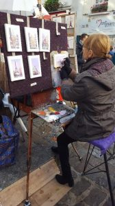 artist at Sacre Coure