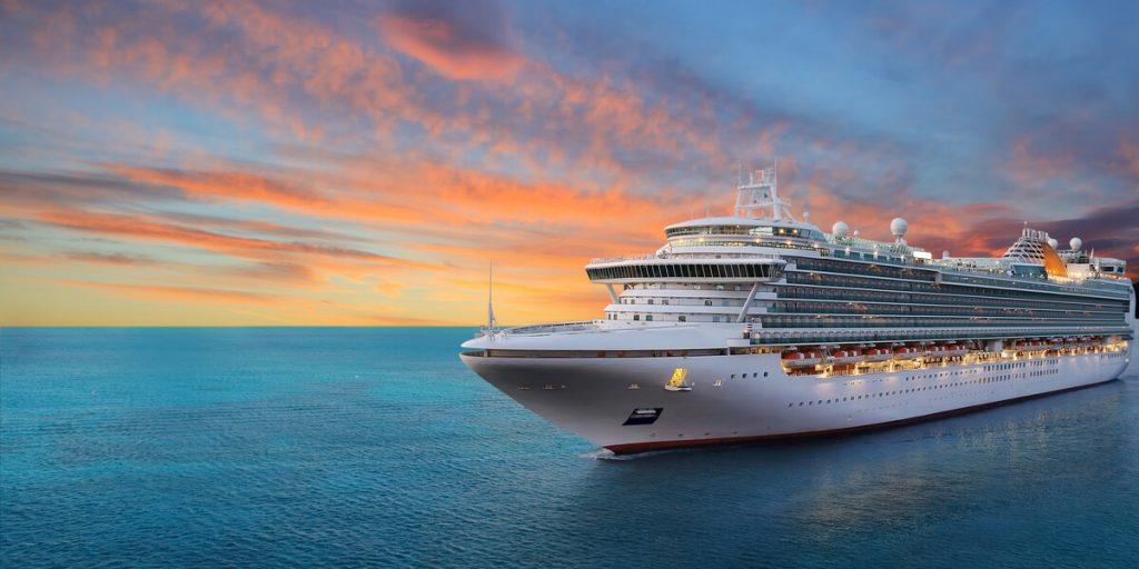 Cruise Ship At Dusk CruiseExperts.com