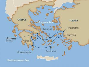 Map of the Greek Isles | CruiseExperts.com