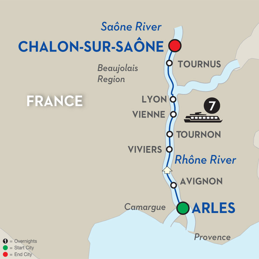 8 day avalon river cruise from arles to chalon sur sa ne. Black Bedroom Furniture Sets. Home Design Ideas