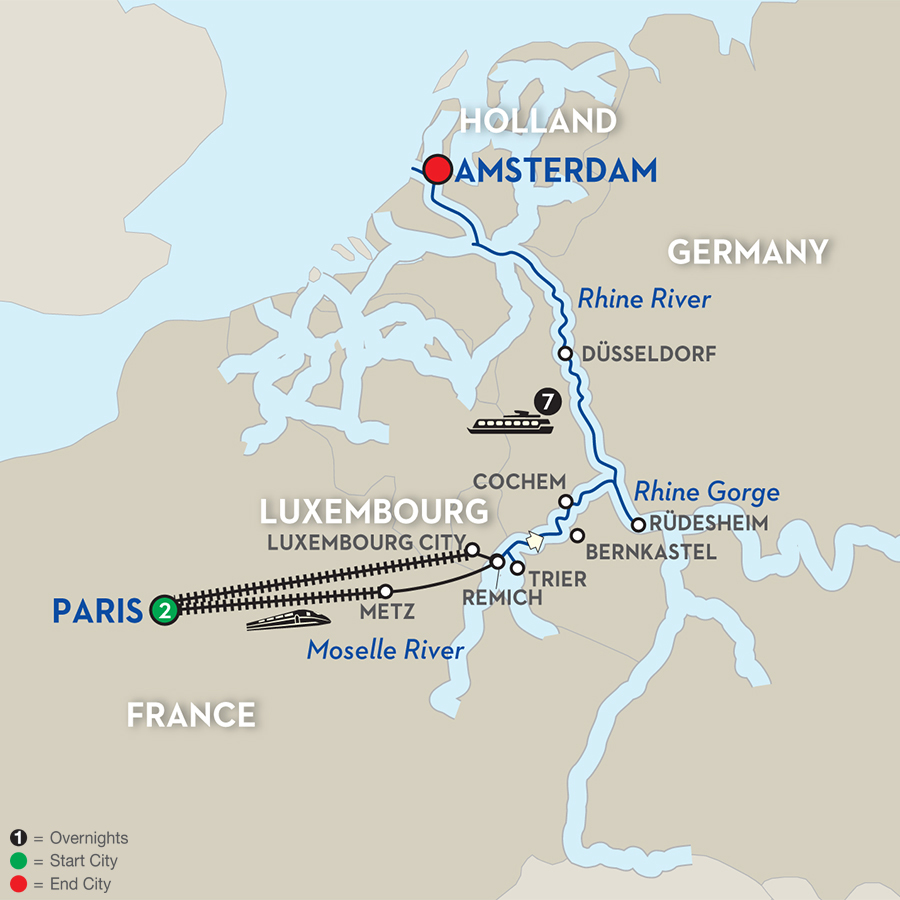 avalon-river-cruise-paris-to-amsterdam-map
