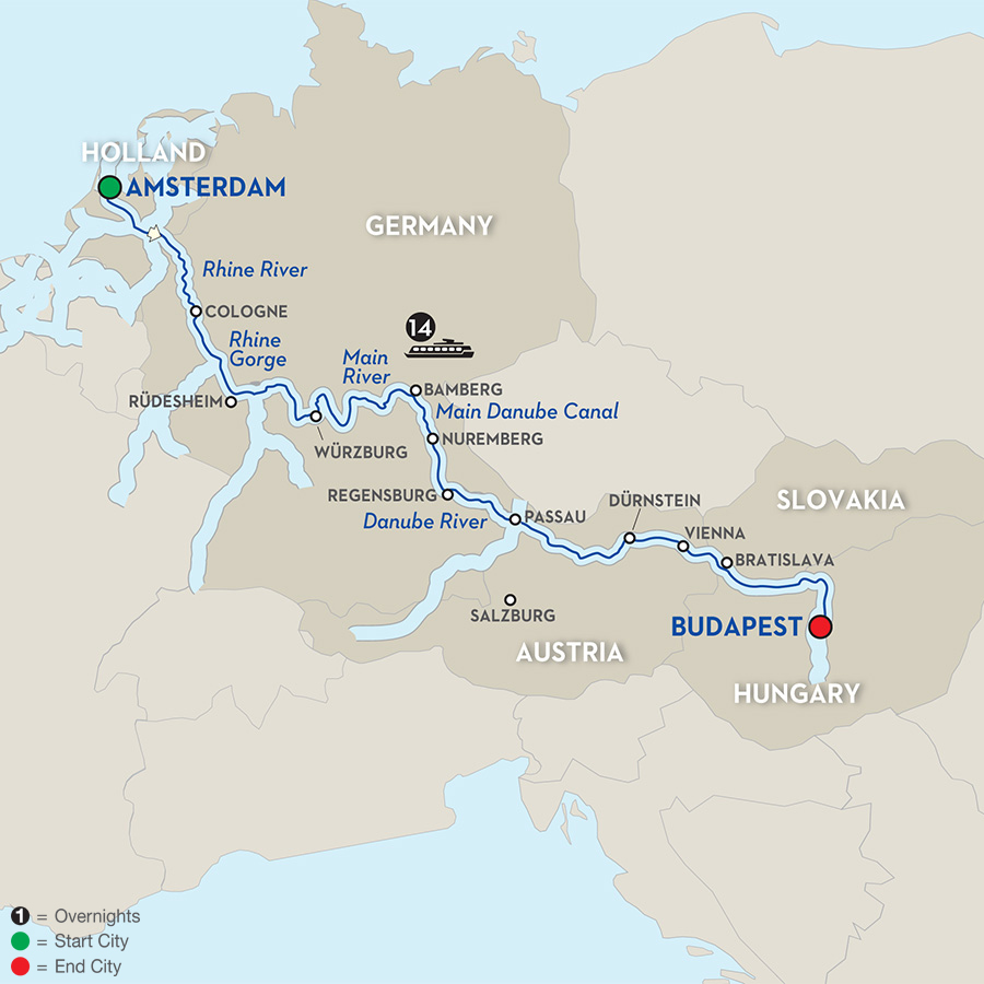 15 Day Avalon River Cruise from Amsterdam to Budapest 2018