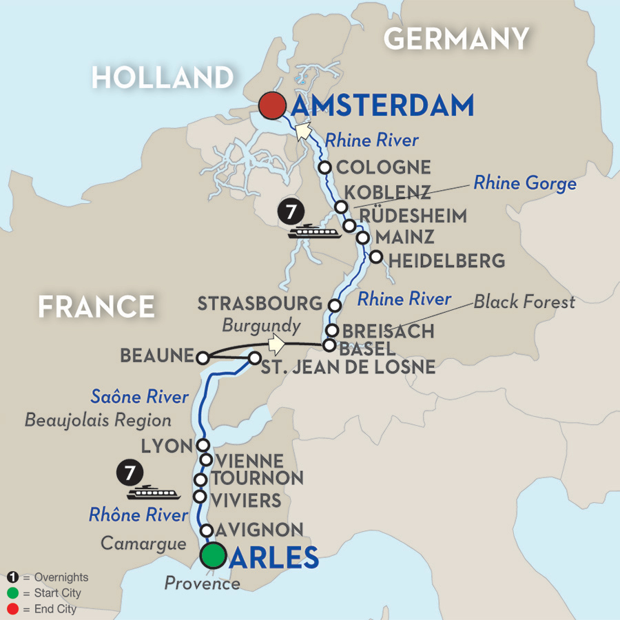 15 Day Avalon River Cruise from Côte d'Azur to Amsterdam 2017
