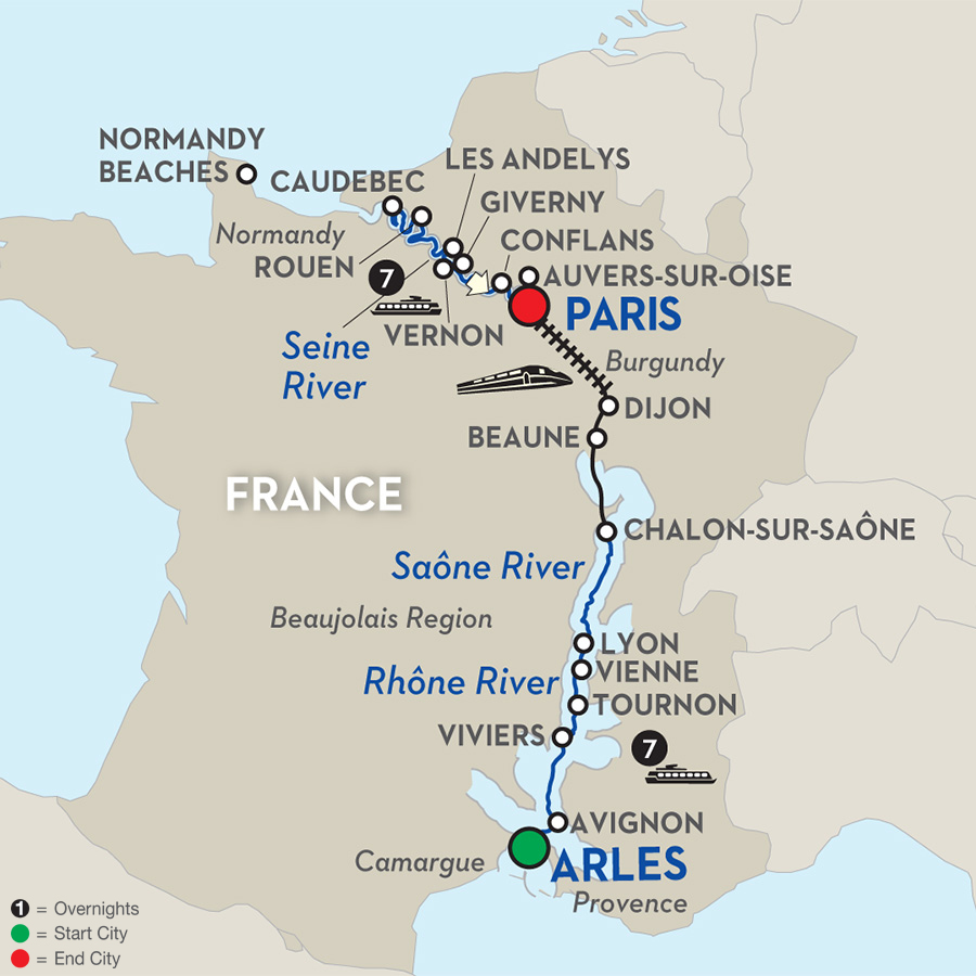 15 Day Avalon River Cruise from Arles to Paris 2017