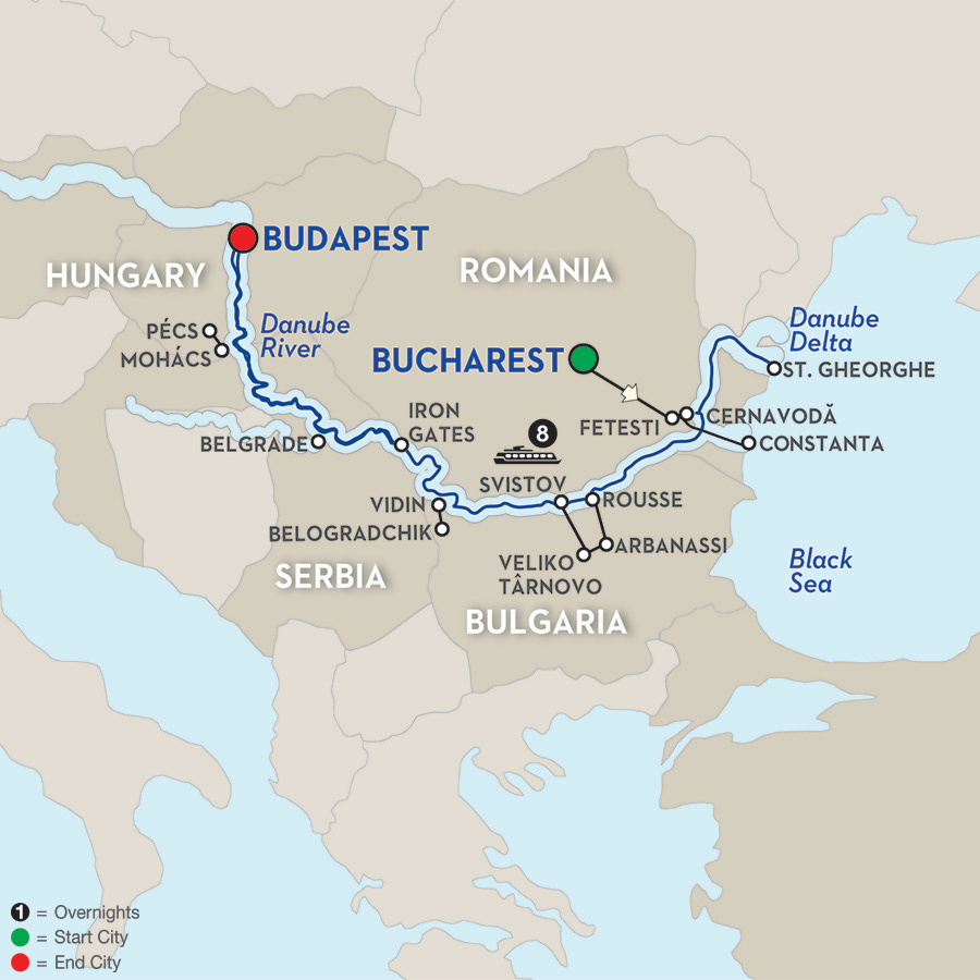 9 Day Avalon River Cruise from Bucharest to Budapest 2018