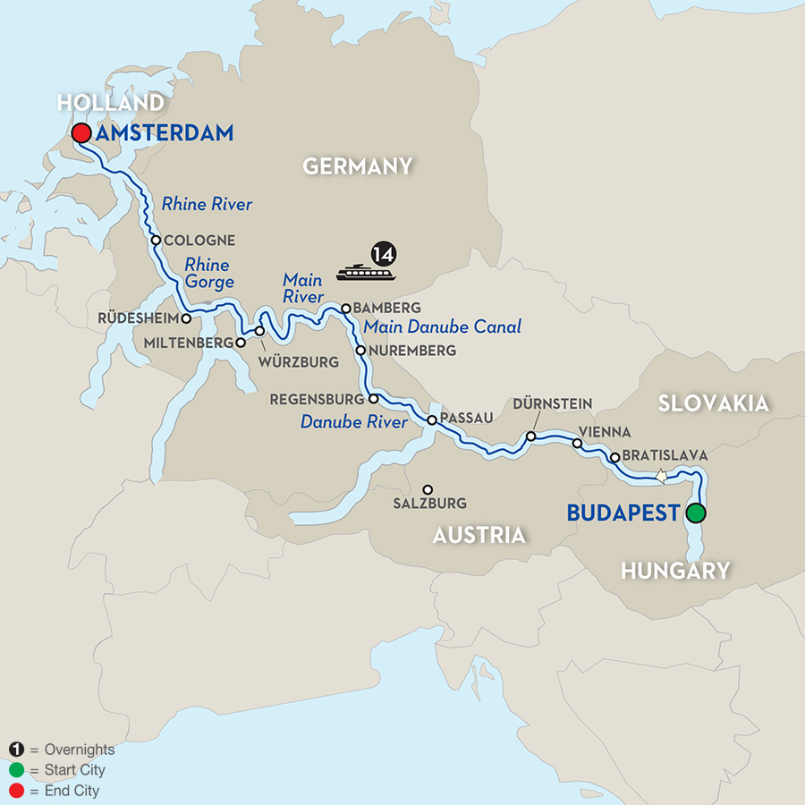 15 Day Avalon River Cruise From Budapest To Amsterdam 2017