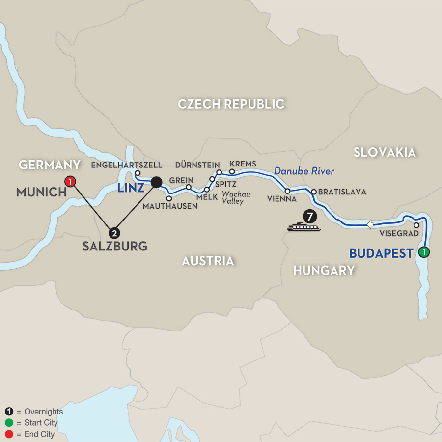 12 Day Avalon River Cruise from Budapest to Munich 2019
