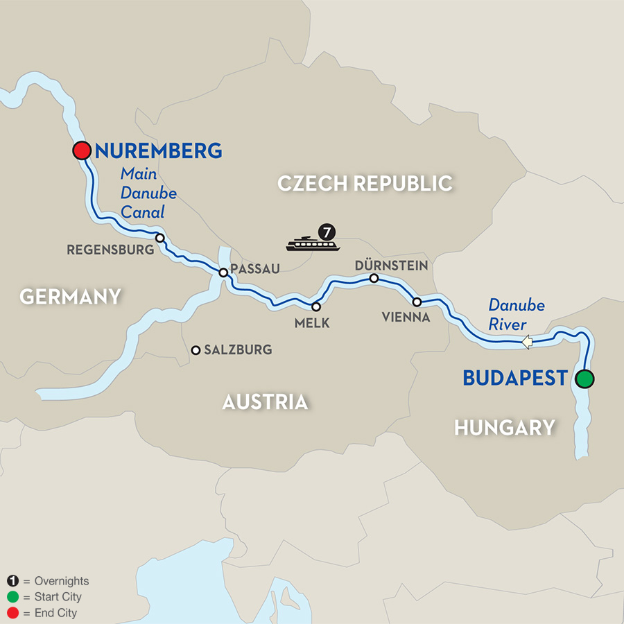 8 Day Avalon River Cruise from Budapest to Nuremberg 2017