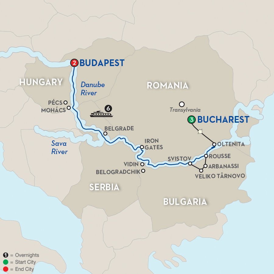 Day Avalon River Cruise From Istanbul To Budapest - Danube river on world map