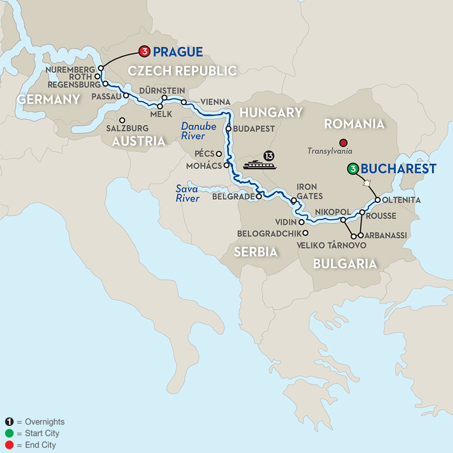 22 Day Avalon River Cruise from Bucharest to Prague 2018 ...