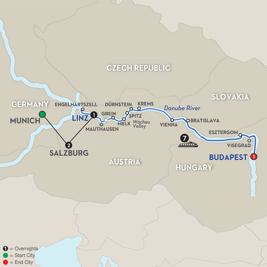 12 Day Avalon River Cruise from Munich to Budapest 2018