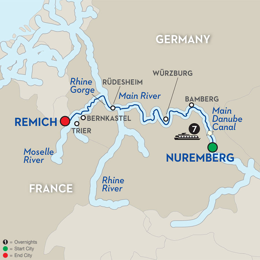 8 Day Avalon River Cruise from Nuremburg to Remich - Cruise Only Westbound 2017